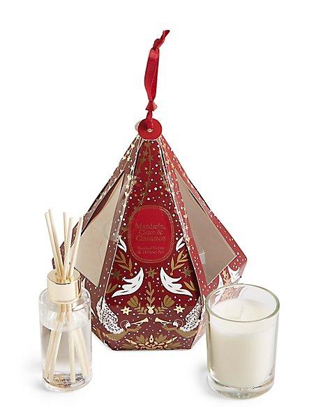 Mandarin, Clove & Cinnamon Hanging Bauble Gift Set