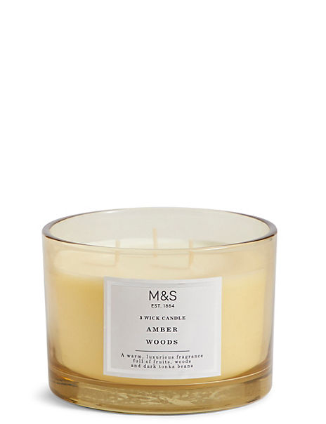 Amber 3 Wick Candle