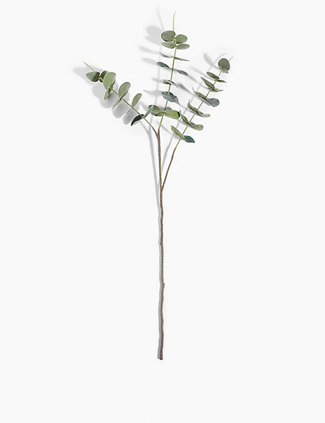 Single Stem Flocked Eucalyptus