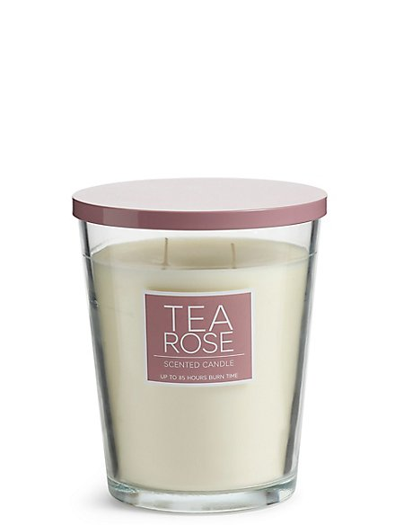 Tea Rose Oversized Scented Candle