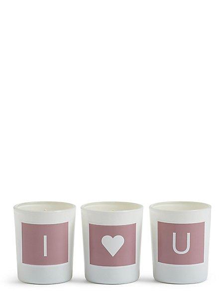 Tea Rose I, Heart & U Votive Candles