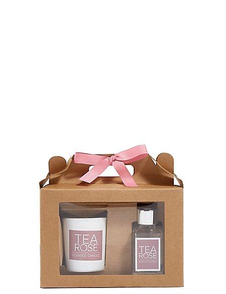 Tea Rose Diffuser & Candle Gift Set