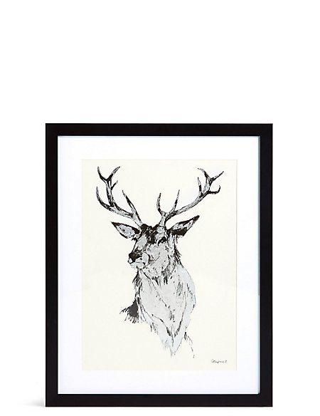 Valiant Silver Stag Wall Art
