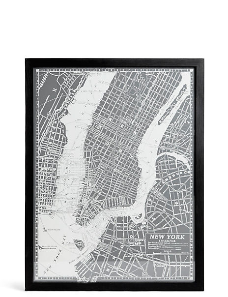 Vintage New York Map Wall Art