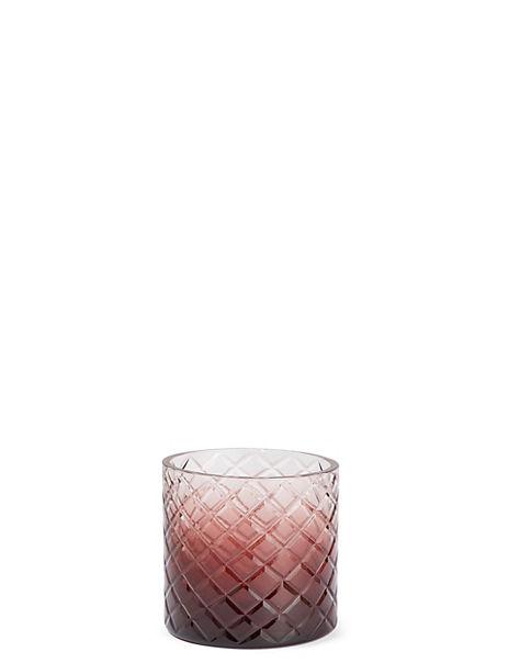 Diamond Cut Glass Ombre Tea Light Holder