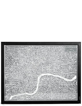 Vintage London Map Wall Art