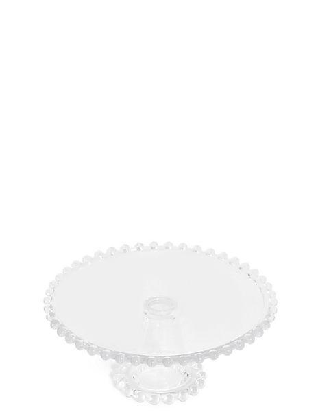 Beaded Glass Cake Stand