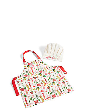 Kids Christmas Apron Set