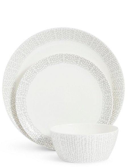 12 Piece Palermo Coupe Dinner Set