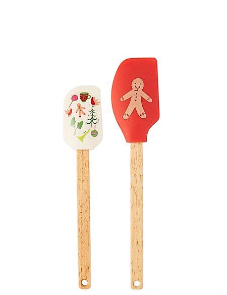 Gingerbread Man Spatula 2 Piece Set