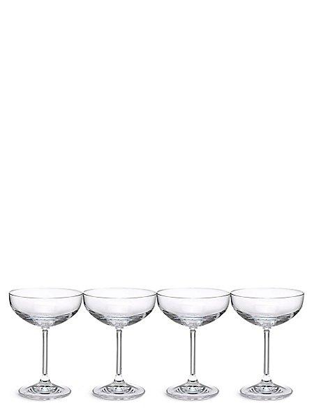 4 Maxim Champagne Saucer Glasses