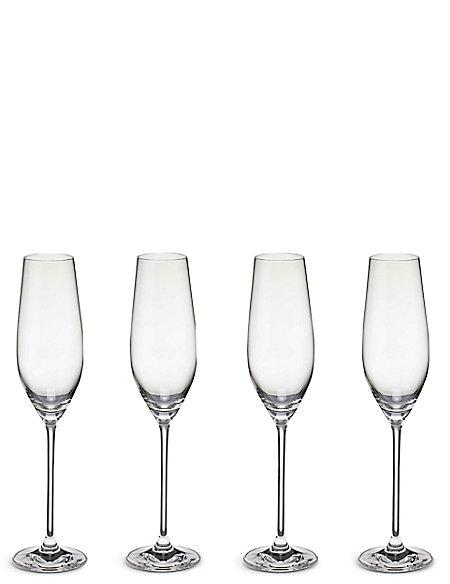 4 Maxim Champagne Flute Glasses