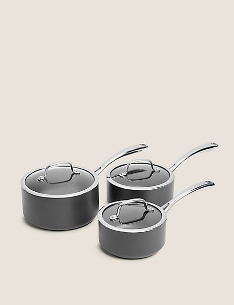 Chef Hard Anodised 3 Piece Pan Set
