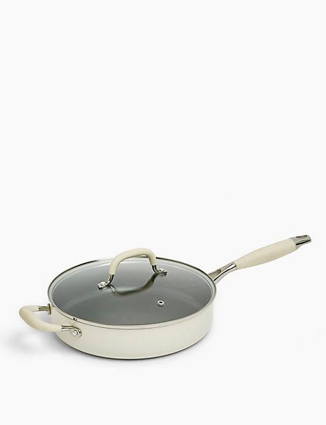 Cream Aluminium 26cm Sauté Pan