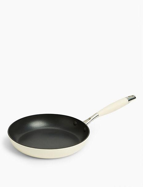 Cream Aluminium 24cm Frying Pan