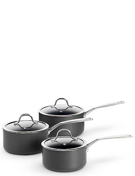 Chef Hard Anodised 3 Piece Pan Set