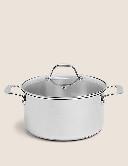 24cm Stainless Steel Stockpot