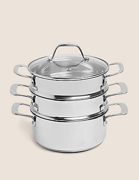 Stainless Steel 3-Tier Steamer