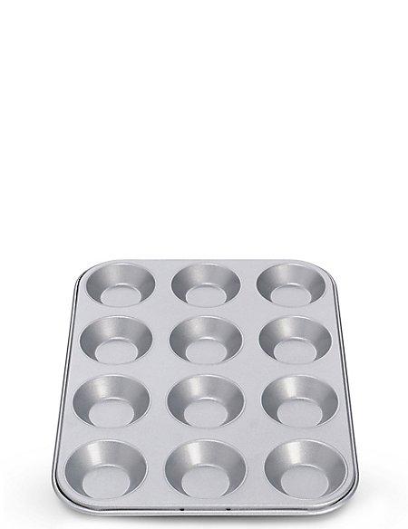 12 Cup Non-Stick Bun Tray