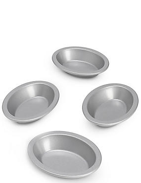 4 Non-Stick Mini Pie Dishes