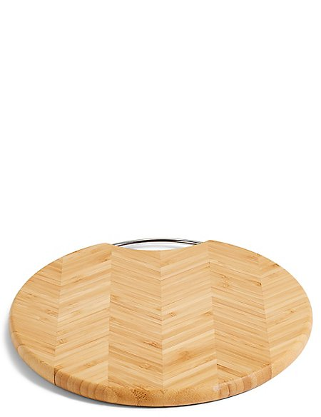Large Round End Grain Chopping Board