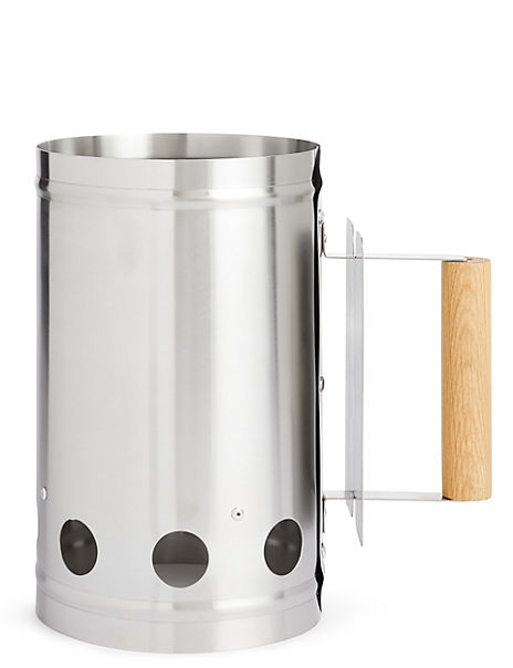 Chimney Starter with Wooden Handle