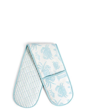 Seaside Core Print Double Oven Glove