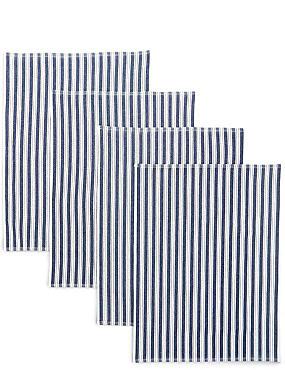 4 Pack Basket Weave Tea Towels