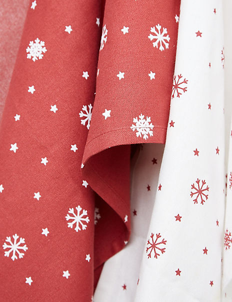 5 Pack Festive Tea Towels