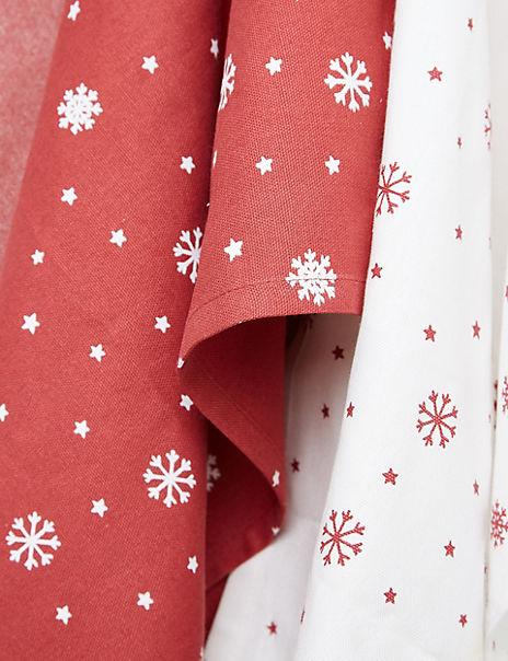 5 Pack Festive Tea Towels