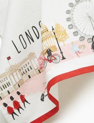 London Print Tea Towel