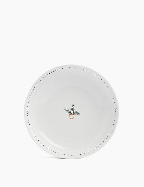 Set of 4 Plant Print Pasta Bowls