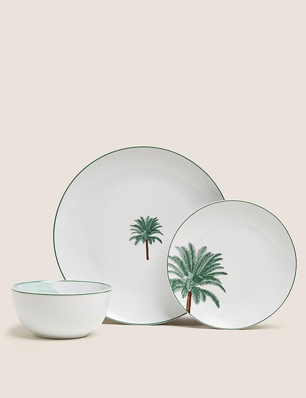 12-delig dinerservies met palmmotief