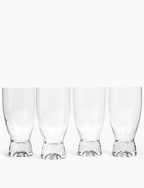4 Pack Crystal Miami Hi Ball Glasses