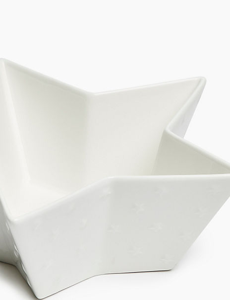 Large Ceramic Star Bowl