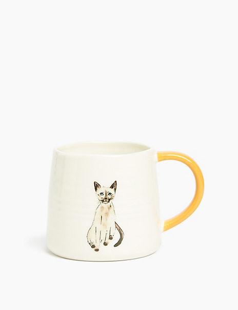 Siamese Cat Print Mug