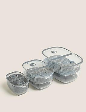 Lot de 3boîtes de conservation pour réfrigérateur