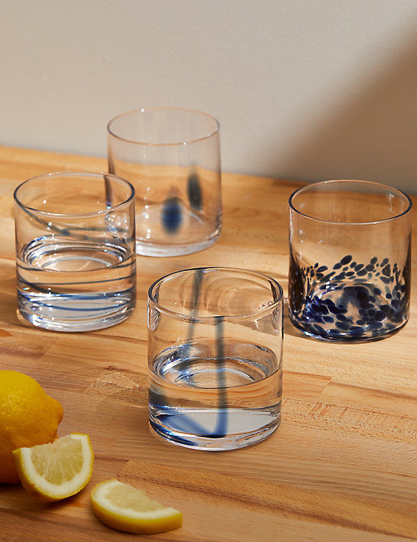 Set of 4 Patterned Tumblers
