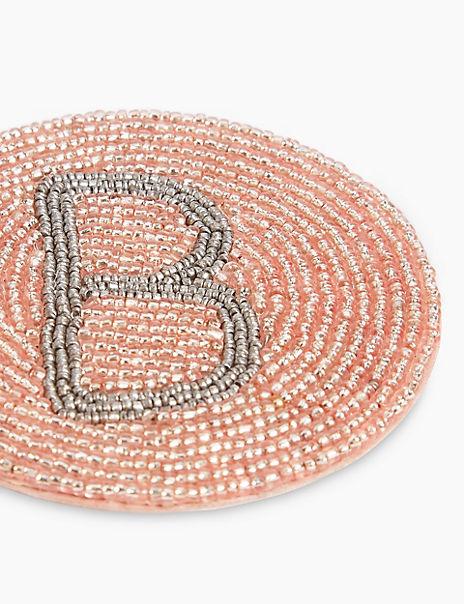 Beaded Alphabet Coaster