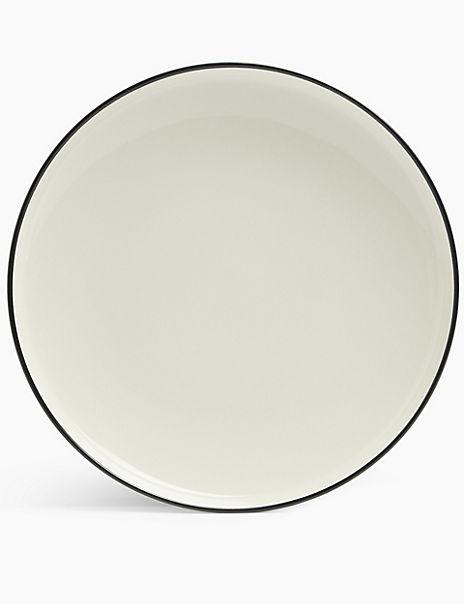 Tribeca Rimmed Stoneware Dinner Plate