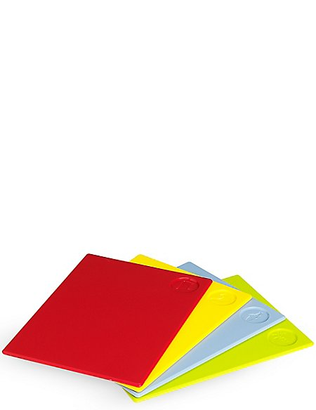 4 Pack Colour Coded Chopping Boards