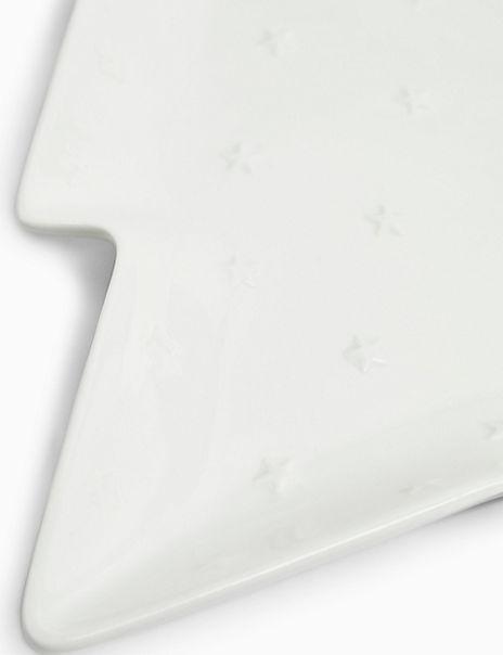 Small Ceramic Christmas Tree Plate