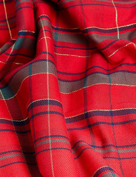 Cotton Mix Tartan Tablecloth