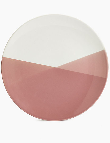 Dipped Stoneware Dinner Plate