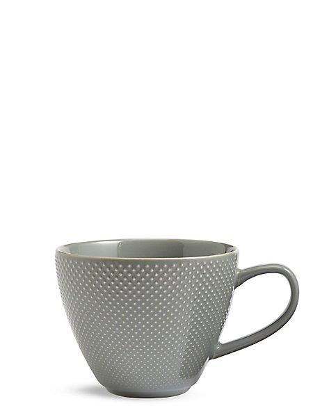 Textured Dot Green Mug