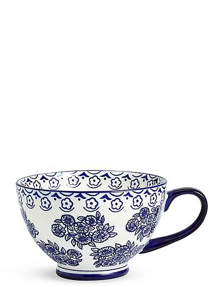 Saloon Footed Blue Mug