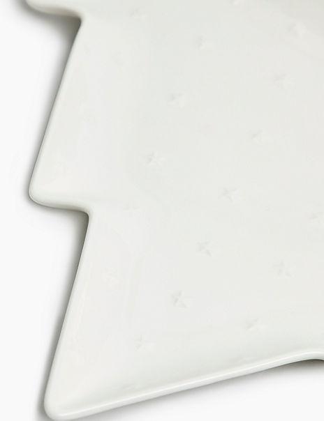 Large Ceramic Christmas Tree Plate