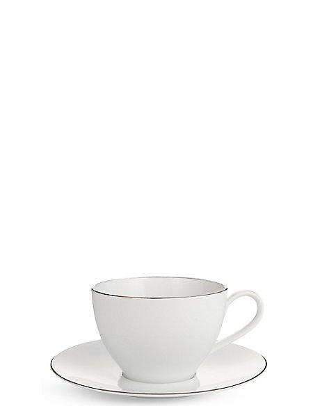 Maxim Platinum Cup & Saucer Set