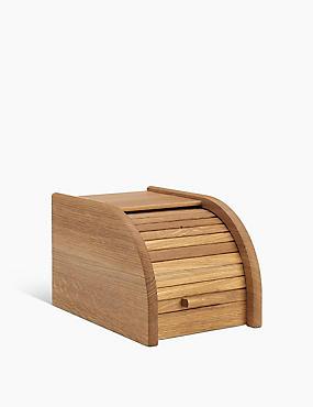 Small Oak Wood Bread Bin