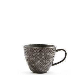 Textured Charcoal Mug